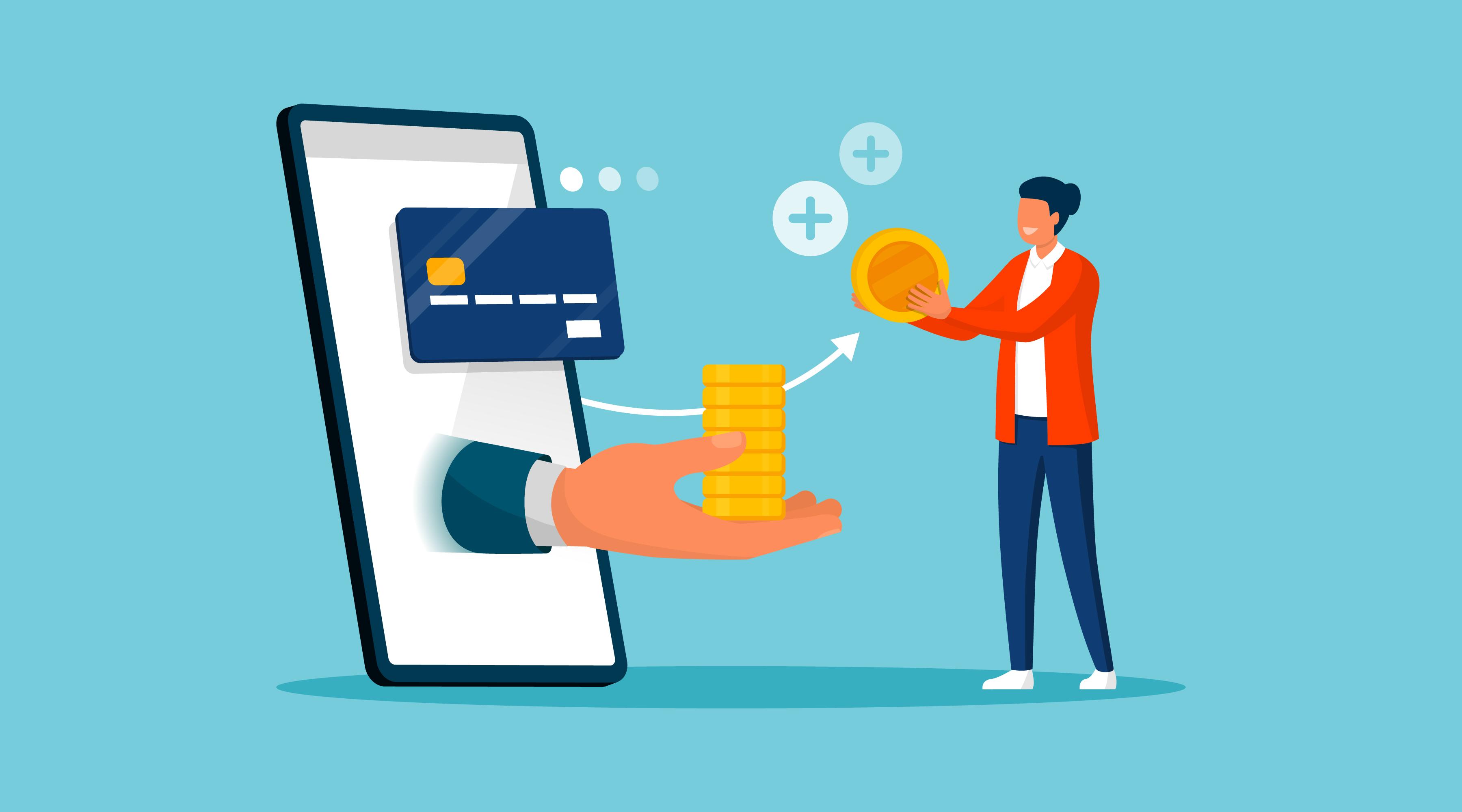 Matéria de Cashback - MBeD - Cliente recebendo dinheiro de volta
